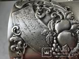 Подстаканник серебро  модерн 1918 год 200 грамм В А клеймо, фото №3