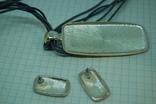 Кулон и Серьги. Тяжелый металл. Эмаль, фото №7