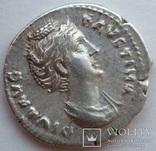 Денарий Diva Фаустина I 141 г н.э. (25_5) фото 2