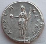 Денарий Diva Фаустина I 141 г н.э. (25_5) фото 6
