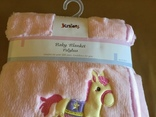 Детское одеяло плед розовое, новое, фото №4