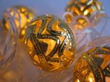 Золотые шарики , Гирлянда новогодняя , золотые шарики 20 шт..