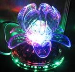 Диско светильник лилия , Диско шар ночник ., фото №2