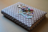 Блокнот ручной работы с нелинованными состаренными страницами -Лесная фея- 115 листов