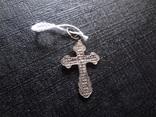 Крестик серебро  новый П.12, фото №5