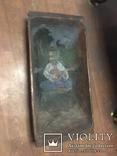 Корыто деревянное старинное с росписью Козак Мамай, фото №8