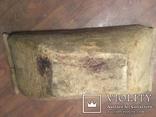 Корыто деревянное старинное с росписью Хата и пейзаж, фото №5