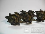 Комплект крючков бронза ( Винтаж Европа ) 4шт, фото №3