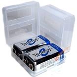 Коробка бокс кейс Футляр на 2 аккумулятора Крона 9V