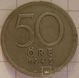 50 эре 1943 G Швеция, фото №2