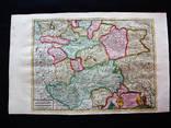 Великолепная карта Московии. 1713 год. Запорожские козаки.