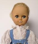 Кукла блондинка в голубом платье с вышивкой., фото №4