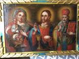 Икона Богородица, Иисус, Св. Николай