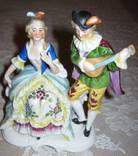 """Антикварная статуэтка """"Дама с кавалером"""" Германия, фото №2"""