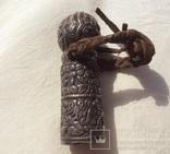 Серебряная ручка печати, Тибет, 19 век., фото №4