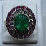 Колье и кольцо с драгоценными камнями photo 5