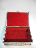 Шкатулка для украшений сюжетная ( бронза , серебрение , детализация ) Европа, фото №9