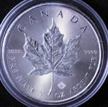 Серебряная монета Канады 5 долларов 2018 год Кленовый лист