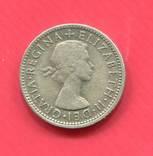 Австралия 1 шиллинг 1954, фото №3