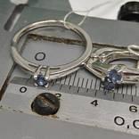 Серьги и кольцо 17.5мм с природными сапфирами photo 2