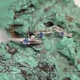 Серьги и кольцо 17.5мм с природными сапфирами photo 1