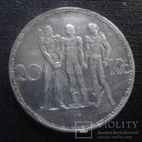 20 крон 1934 Чехословакия  серебро  (К.33.2)~, фото №2