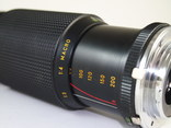Объектив HANIMEX M.C Auto zoom f = 80 - 200  1 : 4.5 MACRO., фото №5