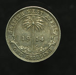 Британская Западная Африка шиллинг 1914 аUnc серебро