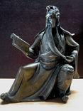 Китайская бронзовая статуэтка военачальника царства Шу эпохи Троецарствия. Гуань Юй.