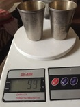 Большие стопки для водки серебро 875