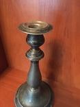 Подсвечник с глубоким серебрением ,19 век.