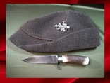 Тирольская охотничья шапка и нож Золинген