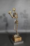 """""""Скелет философ"""", бронзовая скульптура, подпись, клеймо, Европа"""