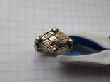 Серебряный перстень КР в позолоте.