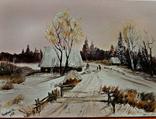 Сельская зима.30х40 Шаркади Н.