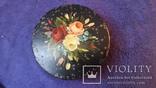 Металлическая шкатулка с ручной живописью, фото №2