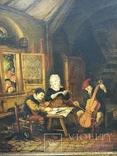 Картина ''Трактир'', Европа, малые голландцы (копия)., фото №3