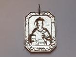 Иконка нательная. Св. Николай. Серебро 925 проба., фото №4