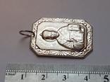 Иконка нательная. Св. Николай. Серебро 925 проба., фото №6