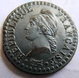 Франция, Первая Республика, UN CENTIME L'AN 6 (1797-1798) photo 3