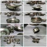 Сервиз серебро 800 проба Клейма 1 кг 112 гр. Сахарница Фруктовница и т.д.