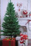 Ель литая зеленая 1.8 м, искусственная елка на Новый Год и Рождество (Штучна ялинка)