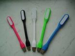 5 usb лампочек на гнущейся ножке цвет белый