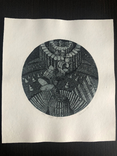 "Александр Аксинин, графика ""Exl, В. Витрука"" 1977г. photo 5"