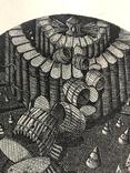 "Александр Аксинин, графика ""Exl, В. Витрука"" 1977г. photo 7"