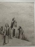 """Іван Остафійчук, графіка """"Довбуш"""" 1972р photo 9"""