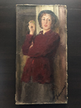 "Генриетта Левицкая, Картина "" Женщина с яблоком "" Холст, масло. photo 1"