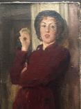"Генриетта Левицкая, Картина "" Женщина с яблоком "" Холст, масло. photo 2"