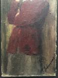 "Генриетта Левицкая, Картина "" Женщина с яблоком "" Холст, масло. photo 3"