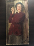 "Генриетта Левицкая, Картина "" Женщина с яблоком "" Холст, масло. photo 10"